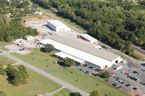 Aerial view of Boiler Tube Company of America's Lyman, SC facility