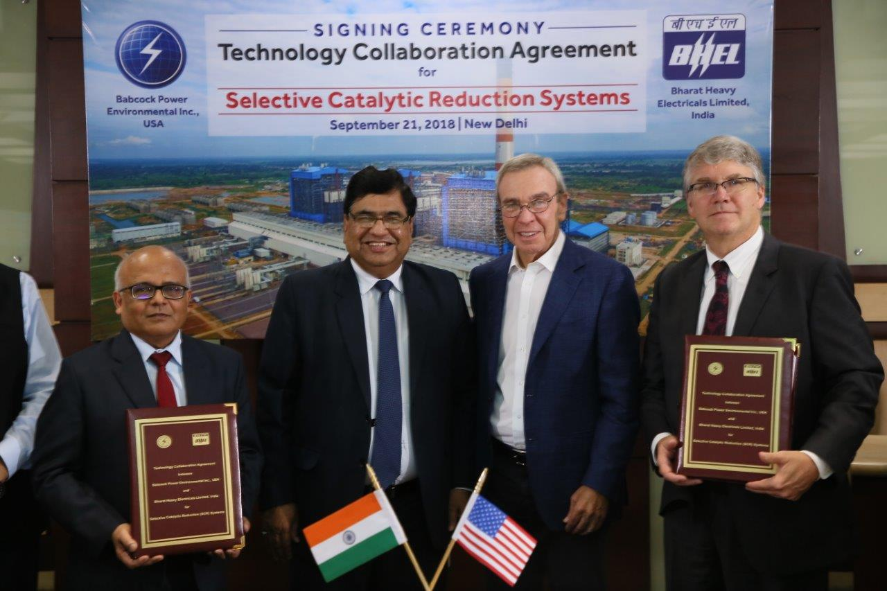BHEL and Babcock Power Environmental signing TCA for SCR systems
